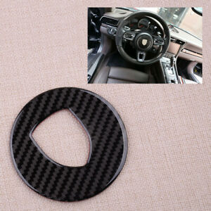 Steering Wheel Logo Trim Cover Fit For Porsche 718 911 Cayenne Macan Panamera