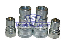 """2-pk 3/8"""" ISO 7241-B Hydraulic Hose Quick Disconnect Coupler"""