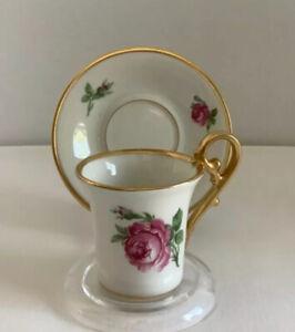 Bavaria Alba Kunst Alboth & Kaiser Mini/Espresso Gilded Cup and Saucer Set