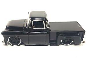 1955 CHEVY STEPSIDE PICKUP TRUCK BLACK 1/24 CHEVROLET JADA OLDSKOOL