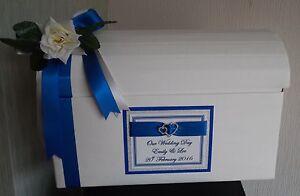 Personalised Post Chest Card Box Glitter Card Wedding Engagement Birthdays PB15