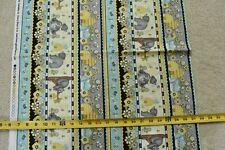 "23"" Long, Yellow Blue Honey-Bear Striped Quilt Fabric/Henry Glass/Comiskey N5935"