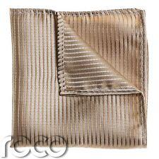 Boys Striped Gold Pocket Square, Boys Handkerchief, Pocket Handkerchief