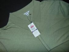 NWT, CALVIN KLEIN Long Sleeved Polo Shirt ~ XXL ~ 100% Cotton ~ Green