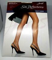 HANES Silk Reflections Silky Sher Control Top Pantyhose Size: AB BARELY THERE NI