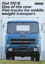 Fiat 130 N Rigid Tractor Truck Original UK Sales Brochure 1970s Pub. No. 3867