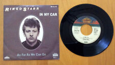 "RINGO STARR ""IN MY CAR/AS FAR AS WE CAN GO"" 45 W/PIC SLEEVE RARE GERMAN PRESSING"