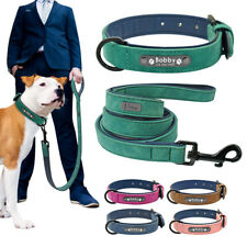 Collars and Leads for Dogs Soft Leather Personalised ID Name Tag Collar Engraved