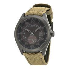 NEW Citizen Eco-Drive Military Black & Canvas Strap 100m Watch BV1085-31E