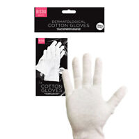 100% White Cotton Gloves - Eczema Moisturising Beauty Butler Waiters Magician