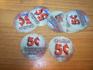 Lot of 4  1st  Print  1A5,  5 cents AAFES  Pogs from 2001 printing  fine -E.F