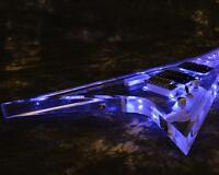 Custom Shop Starshine V Shape LED Light Electric Guitar Crystal Body