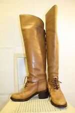 RALPH LAUREN Collection Leather Lace-Up Equestrian Riding Field Boot 7.5B ITALY