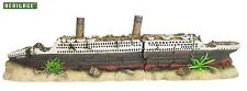 HERITAGE WS021L AQUARIUM FISH TANK LARGE TITANIC BOAT SHIP WRECK ORNAMENT 59CM