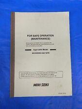 MORI SEIKI FOR SAFE OPERATION MAINTENANCE MANUAL SO-MC-A2E/3