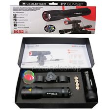LED Lenser P7 Tactical Scope Mounted Gun / Rifle Lamp Torch Inc Filter Kit