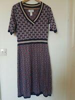 Rick Cardona Metallic Retro Vintage Style Dress Size 12