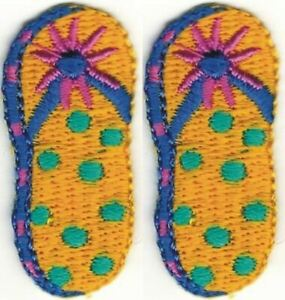 Lot 2 Embroidered Summer Beach Sandal Slipper Patch
