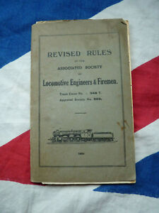 1930 Locomotive Engineers and Firemen Trade Union REVISED RULES BOOK