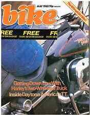 Bike May 1980 YAMAHA IT425, MOTO MARTIN, HESKETH HARLEY LOWRIDER TRIDENT