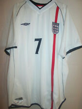 England Beckham 2001-2003 Home Football Shirt Size XL /5832