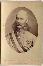EMPEROR FRANZ JOSEPH I OF AUSTRIA CABINET PHOTO