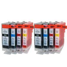 8 pk BCI-3e BCI-6 Ink cartridge for Canon Pixma ip3000 i550 i560 i850 i6500