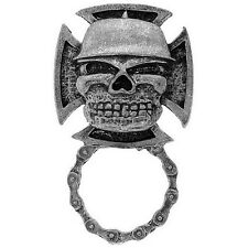 Pin's porte lunettesCroix de Malte Skull casque blouson sweat Biker moto custom
