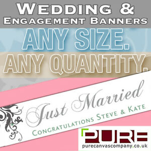Wedding Congratulations Engagement Personalised BANNER