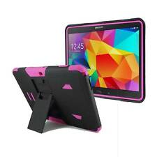 "For Samsung Galaxy Tab 4 10 10.1"" T530 Heavy Duty PC Box Hybrid Stand Case Pink"