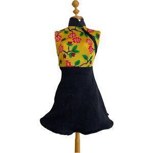 Vtg 1998 Mattel Barbie Style Doll #20767 Asian Inspired Replacement Short Dress