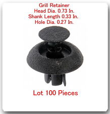 """100 Pc Grill Retainer Head 0.73"""" Shank Length 0.33"""" Hole 0.27"""" Fits: lexus Toyot"""