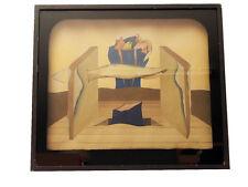 Surreales Gemälde, Gouache im Guckkasten; Ursula Stock 1976