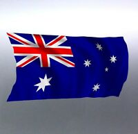 Waving Australian flag sticker Aussie made and designed Australia Vinyl cut rade