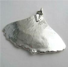 real ginko leaf silver leaf pendant - real leaf jewellery includes thong and box