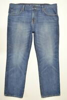 Old Navy Size 40 x 30 Mens FAMOUS SLIM STRAIGHT Leg Medium Wash Denim Blue Jeans