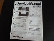 Original Service Manual  Technics Compact Disc Player RS-CH750
