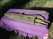 vintage canvas and leather arrow quiver MARKED