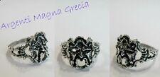 ANELLO MASCHERA APOTROPAICA MAGNA GRECIA ARGENTO 800 FORTUNA SILVER RING MASQUE