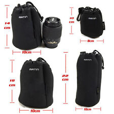 4x Camera Lens Pouch Set Soft Protector Carry Case S/M/L/XL Waterproof for DSLR