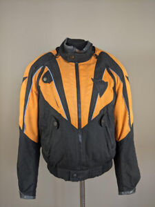 Dainese Men`s Motorcycle Racing Jacket Orange Size 46