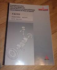 Deutz Khd. ATLAS Copco F 6L 913 COMPRESSORE. elenco parti di ricambio. Multi-LINGUEL.