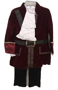 New Disney Store CAPTAIN HOOK Pirate Costume & Hook & Sword Boys Size 3