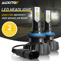 2X AUXITO H11 H8 LED Headlight Bulb Kit Low Beam Fog Light Bulb 9000LM B7 EOA