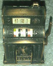 Vintage Golden Eagle Mini Slot Machine Die Cast Pencil Sharpener /dollhouse