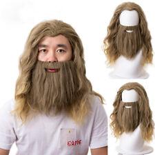 2019 Movie Avengers 4 Endgame Thor Odinson Cosplay Wig Beard Wavy Hair Halloween