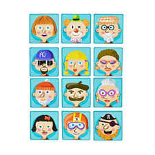Magnetic Play Book for Toddlers Character Face Series Toys