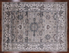 8' X 10' Hand Knotted Silk Oushak Area Rug - P9684