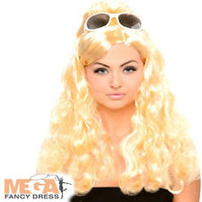 Blonde Curly 1960s Beehive Wig Ladies Fancy Dress Celebrity Costume Accessory