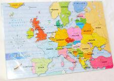 NUEVO Europa Mapa 48 piezas Puzle Rompecabezas En Marco Early aprendizaje